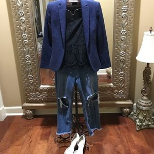 Blue blazer by Zara